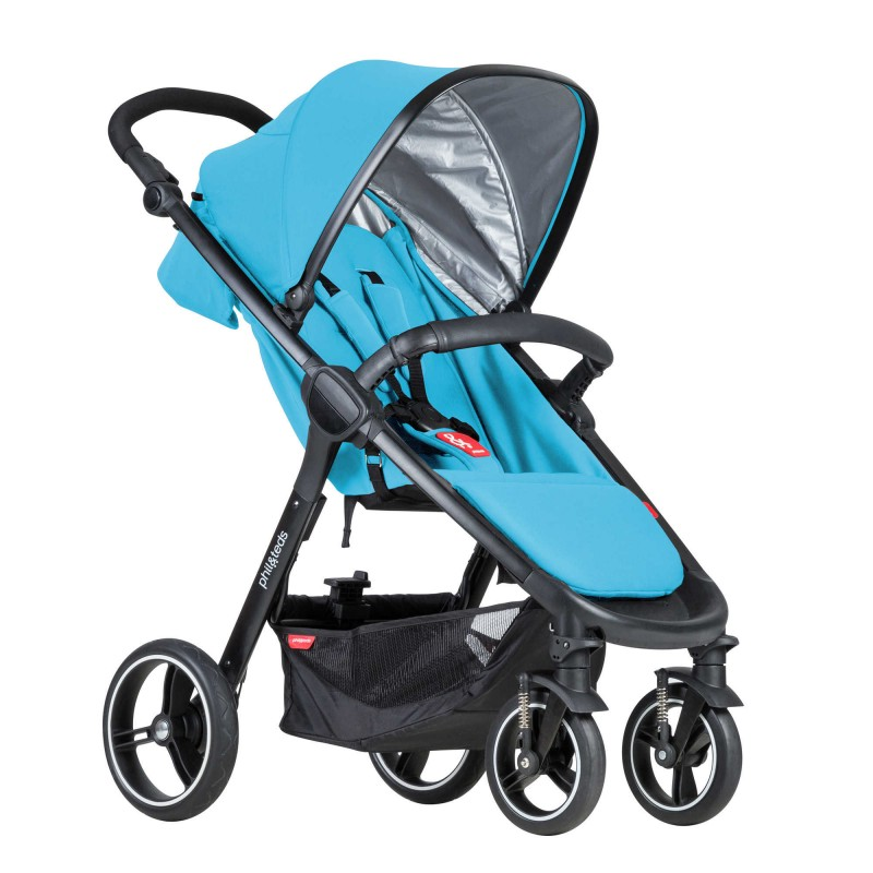 phil&teds® Smart Travel System Bundle in Cyan