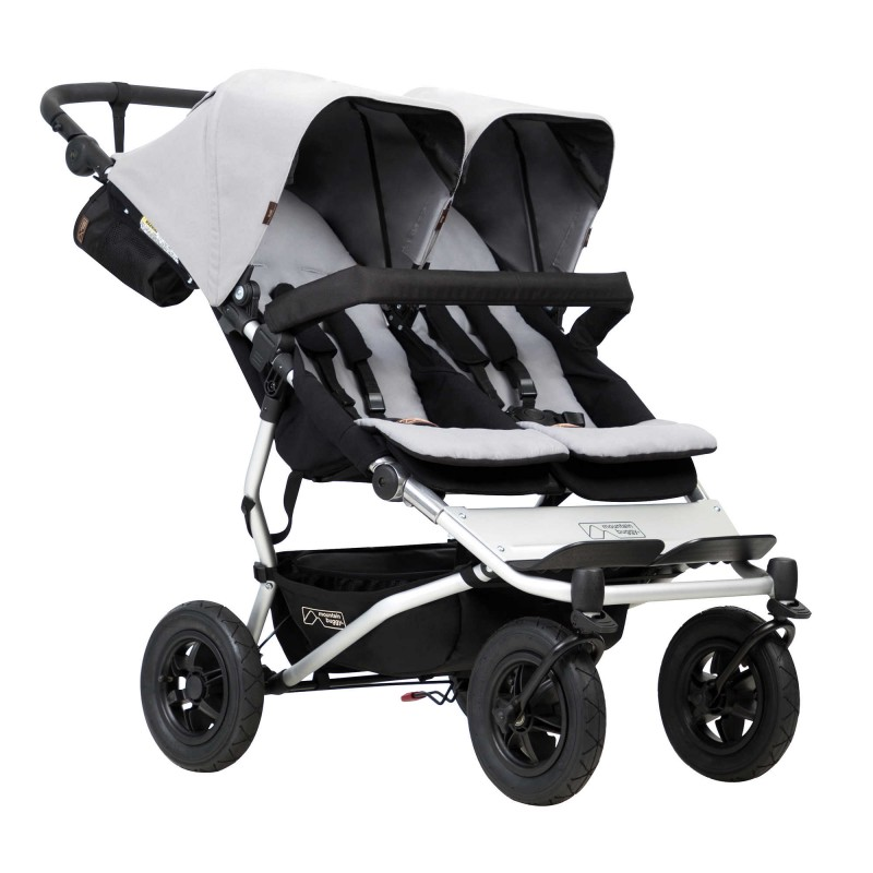 Mountain Buggy® Duet V3 Double Stroller in Silver