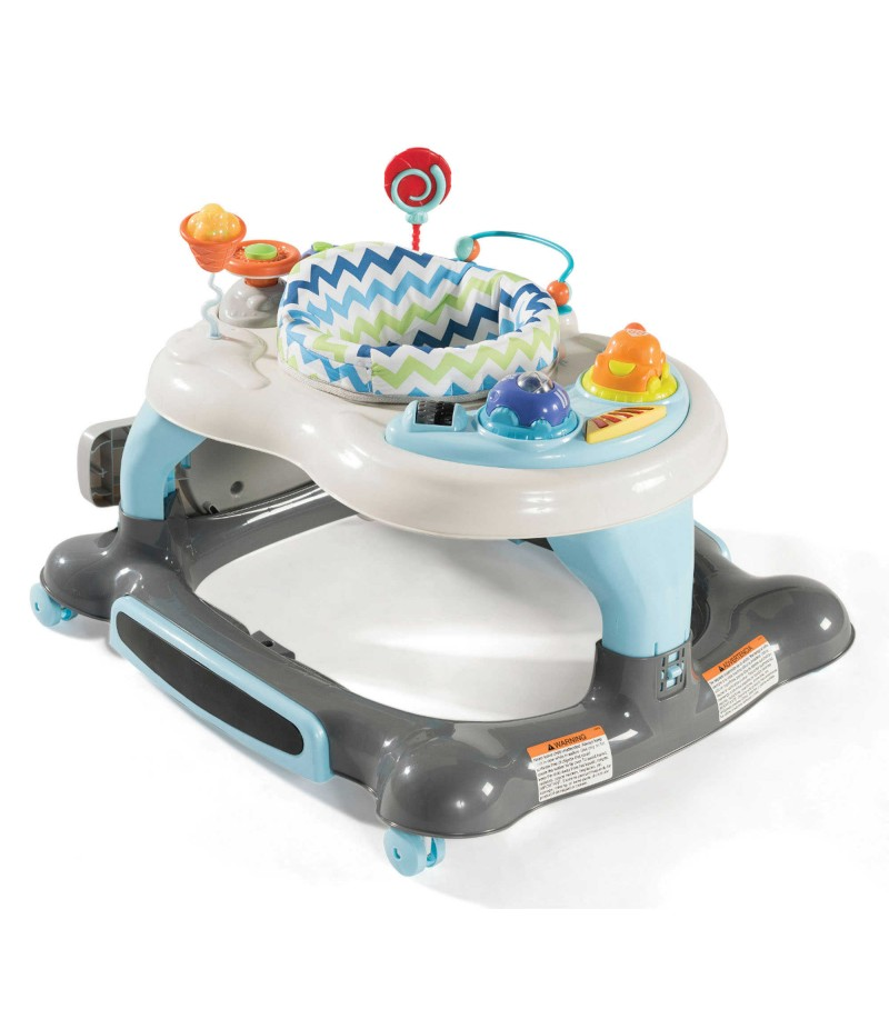 Storkcraft 3-in-1 Activity Walker/Rocker Jumper Board in Blue/Grey