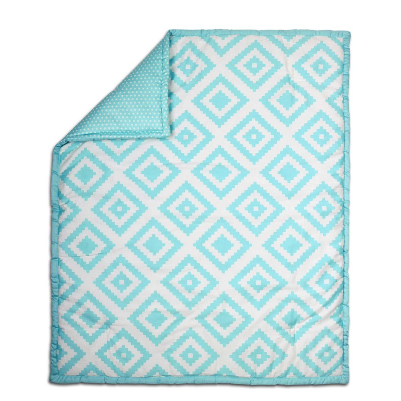 The Peanut Shell® Tile Quilt in Teal
