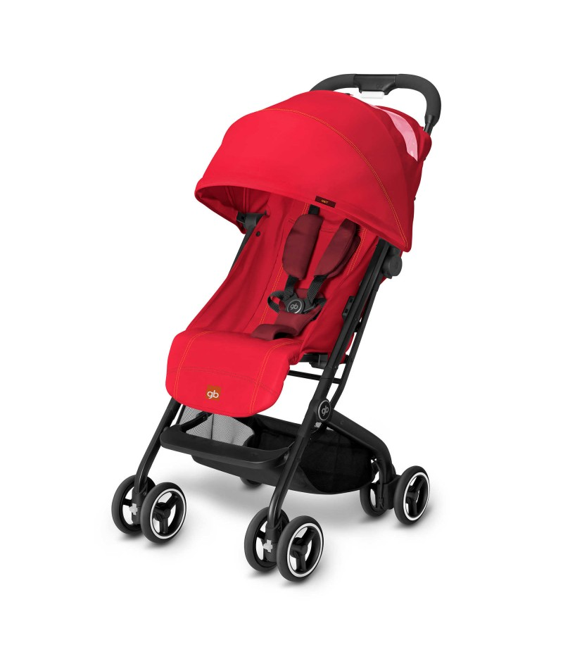 GB Qbit Travel Stroller in Dragonfire Red