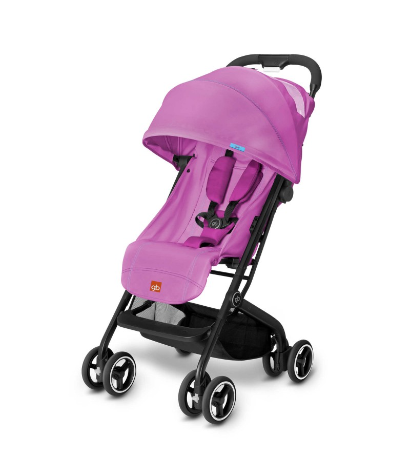 GB Qbit Travel Stroller in Posh Pink
