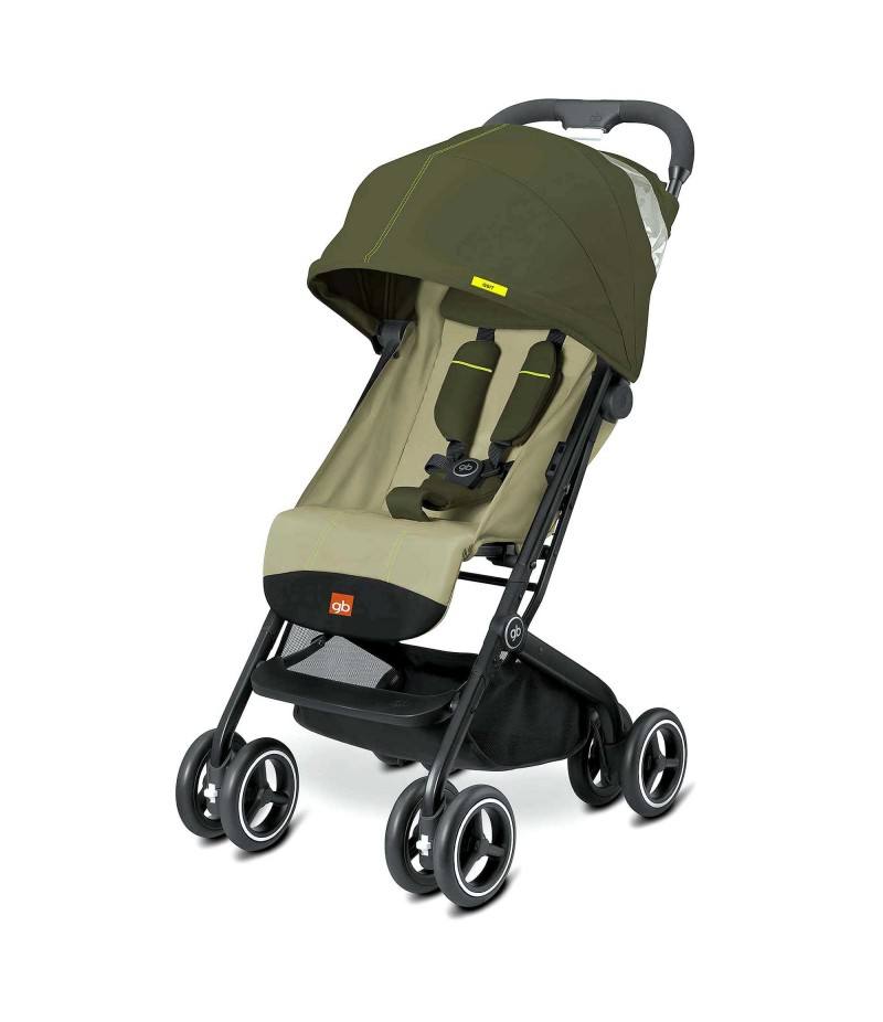 GB Qbit Plus Stroller in Lizard Khaki