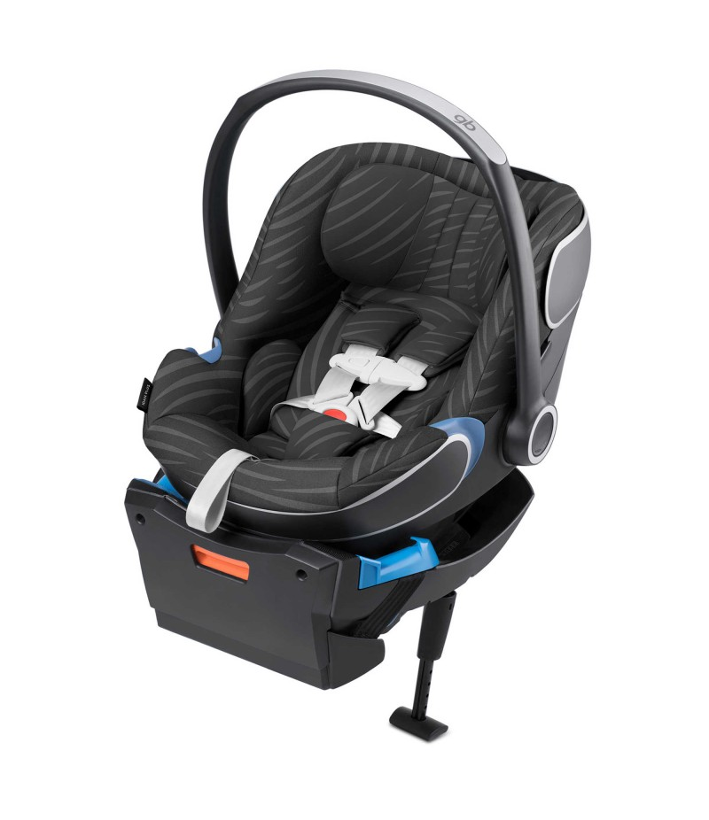 GB Idan Baby PLUS Infant Car Seat with Load Leg Base in Lux Black