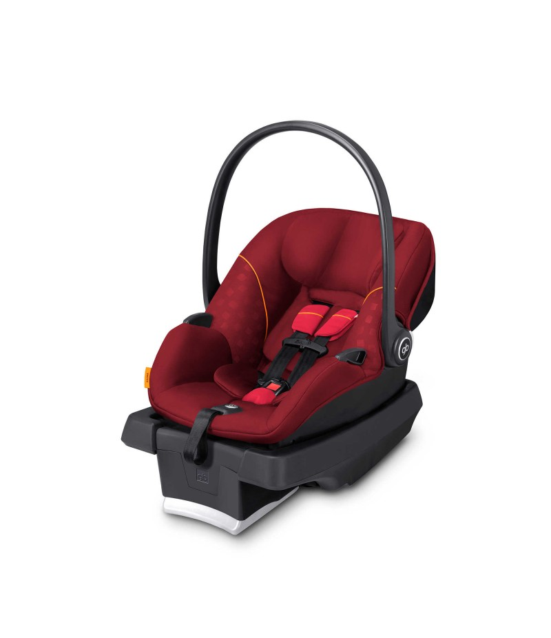 GB Ansana Infant Car Seat in Dragonfire Red with Load Leg Base